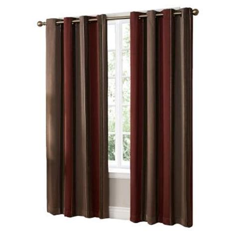 home depot window curtains woodland brick grommet curtain 84 in length discontinued