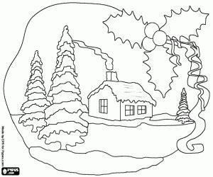 desenhos de paisagens de natal para colorir jogos de