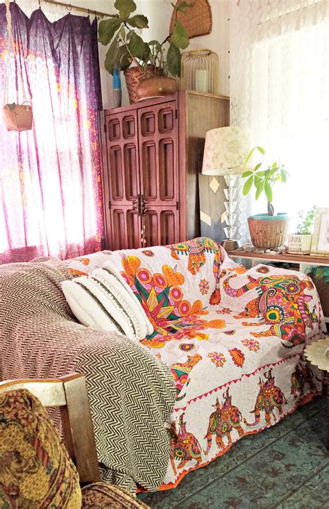 bohemian couch cover boho ifying a hand me down sofa a designer at home