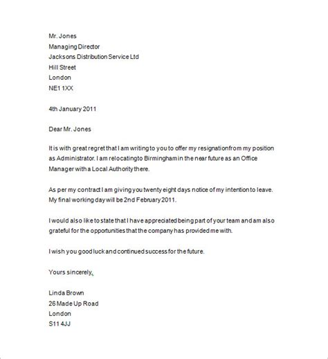 Resignation Letter Format With Notice Period by Resignation Letter Resignation Letter 15 Days Notice Period 2 Week Notice Printable Letter Of