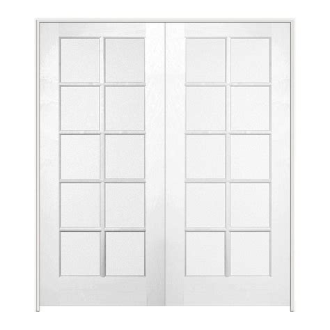 jeld wen smooth 10 lite primed pine prehung interior jeld wen 48 in x 80 in pine unfinished 10 lite wood