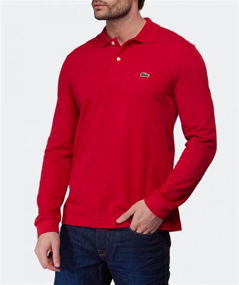 Polo Longsleeves Shirt lacoste sleeve l 13 12 polo shirt in for lyst