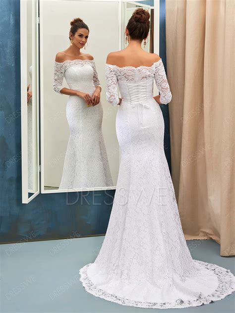 Shoulder Mermaid Dress the shoulder lace mermaid wedding dresses www