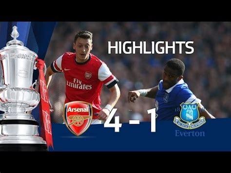 arsenal everton highlights arsenal vs everton 4 1 official goals and highlights fa