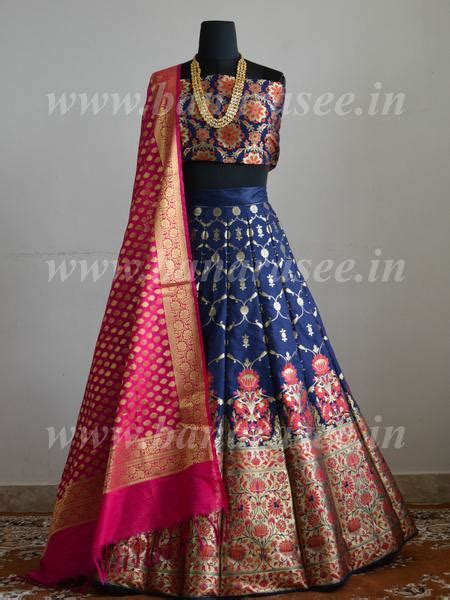 banarasee handwoven art silk unstitched lehenga blouse