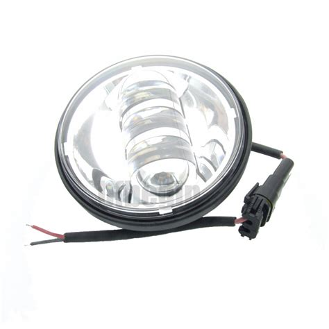 motorcycle led auxiliary lights pair 4 1 2 quot chrome motorcycle led auxiliary spot fog