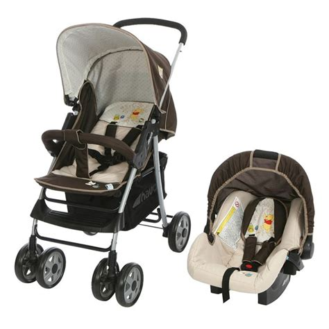 siege auto winnie l ourson winnie poussette combin 233 e duo shopper 10 beige marron