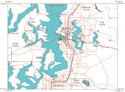 seattle landslide map landslides triggered by the winter 1996 97 storms in the