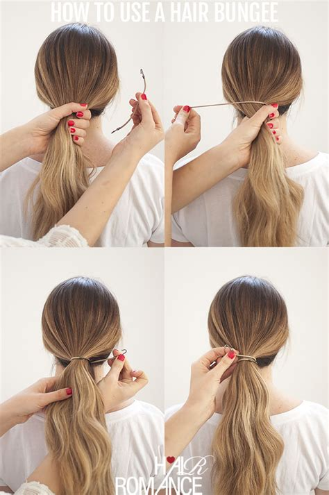 ponytails that attach to your own hair with a rubberband perfect ponytails how to use a hair bungee and hide your