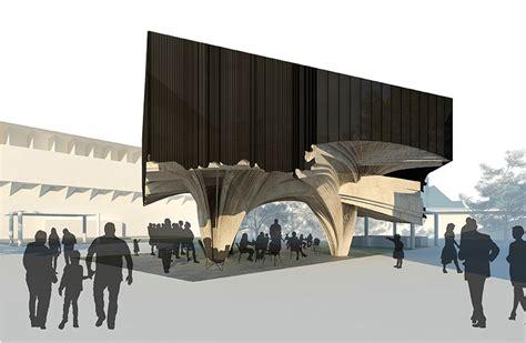 pavilion concept naau studio utilizes geography to formulate garden