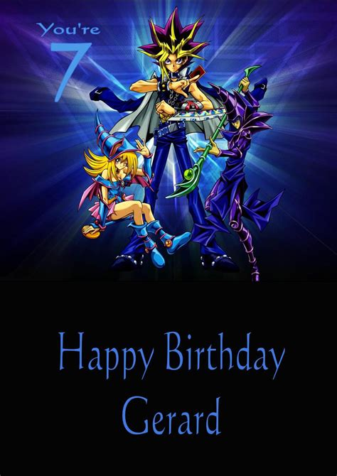 printable gi joe birthday cards personalised yu gi oh birthday card