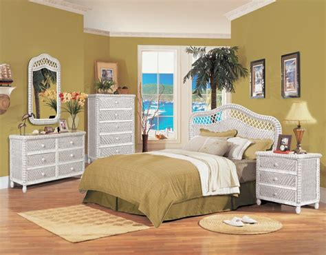 white wicker bedroom set the white santa cruz bedroom group from seawinds trading