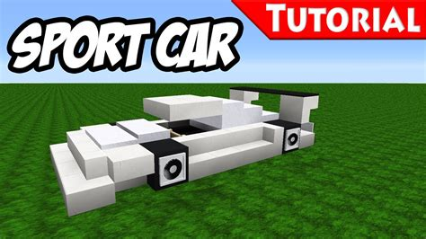 minecraft car minecraft easy sport race car tutorial bugatti veyron