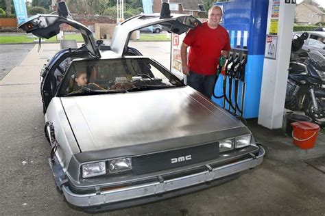 fan for backseat of car back to the future fan drives daughter to in his