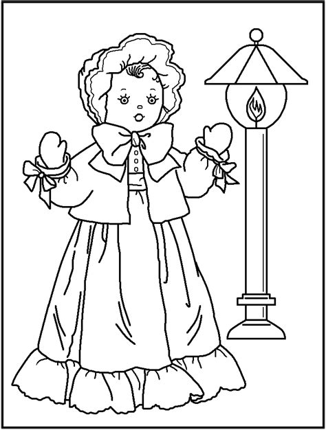 American Doll Colouring Pages Doll Coloring Page