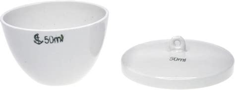 Cawan Krusible 50 Ml 50ml crucible low form porcelain with lid