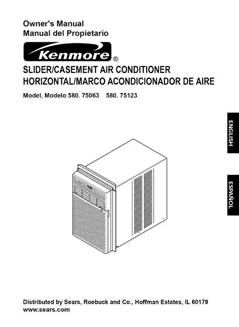 kenmore air conditioner 580 75063 user guide manualsonline