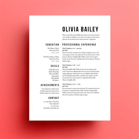 minimalist resume template indesign album layout img models height cv comment faire simple et beau