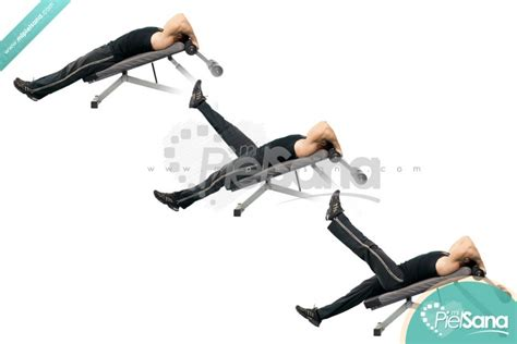 decline bench leg raises decline bench alternate leg raise