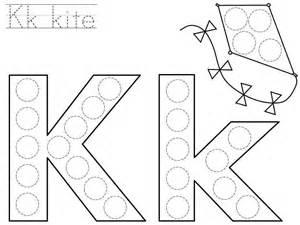 do a dot letter k printable 171 funnycrafts