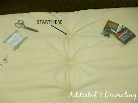 How To Make A Diamond Tufted Upholstered Headboard How To Make A Upholstered Headboard With Buttons