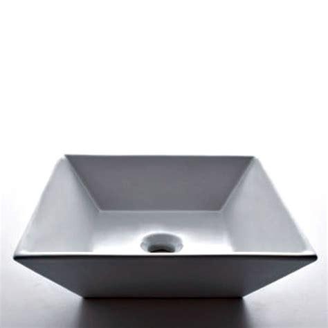 white square vessel acri tec square countertop vessel in white the home
