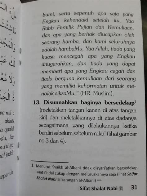 Meneladani Shalat Wudhu Nabi Shallallaahu Alaihi Wa Salam buku saku sifat shalat nabi tata cara shalat nabi
