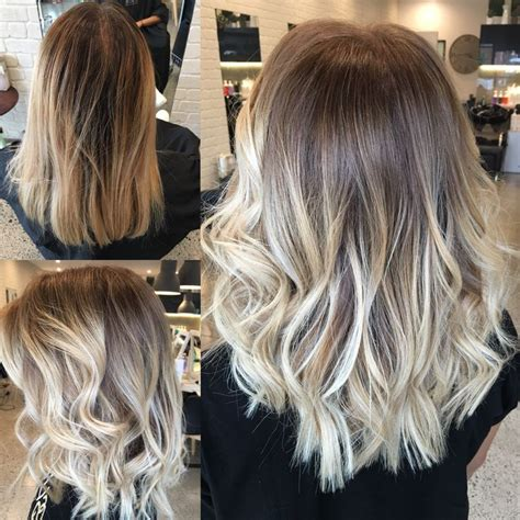balayage highlights for grey hair before and after before and after balayage and babylights jamiehottes