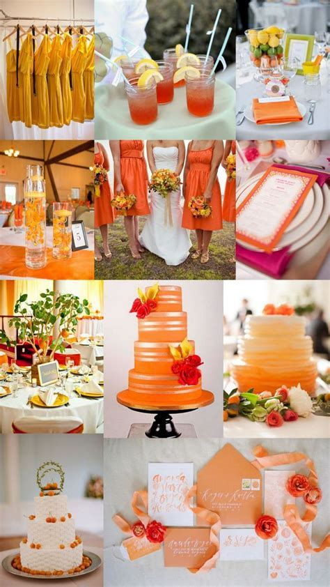 Before Sunset   Orange and Gold Wedding Décor Ideas