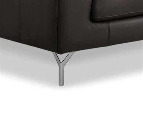 dreamfurniture amafi modern leather grey sectional