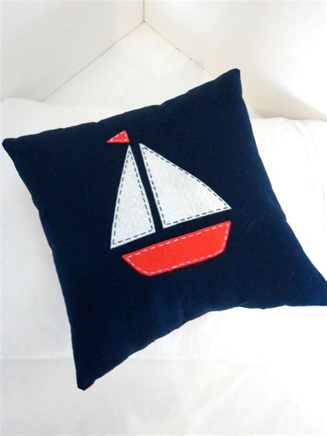 nautical boat cushions boat nautical pillow cushion in navy by alphabetmonkey on