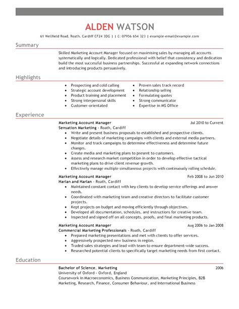 Resume Sle For Account Manager styles best resume format accounts manager best account