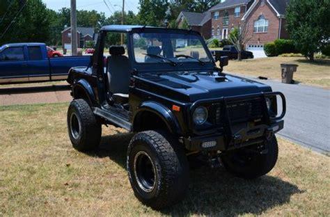 Black Suzuki Samurai Buy Used 1988 5 Suzuki Samurai Lifted V6 Auto Black