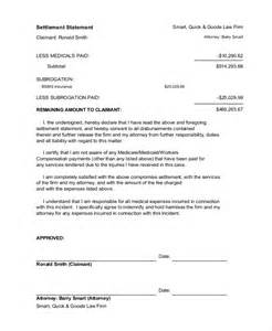 Settlement Statement Template by 10 Settlement Statement Exles Free Premium Templates