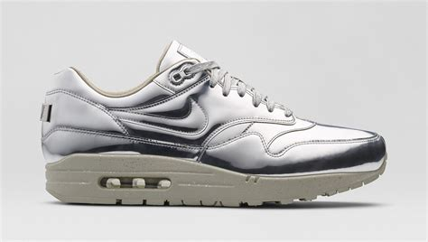 nike silver sneakers nike air max 1 quot liquid metal pack quot returns in s sizes