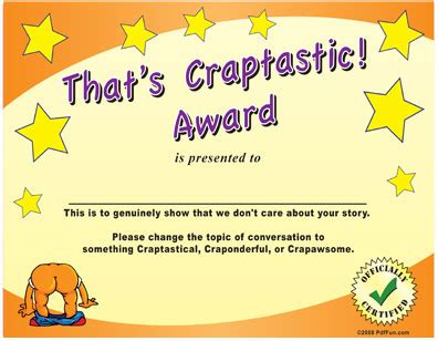 silly certificates awards templates award certificates