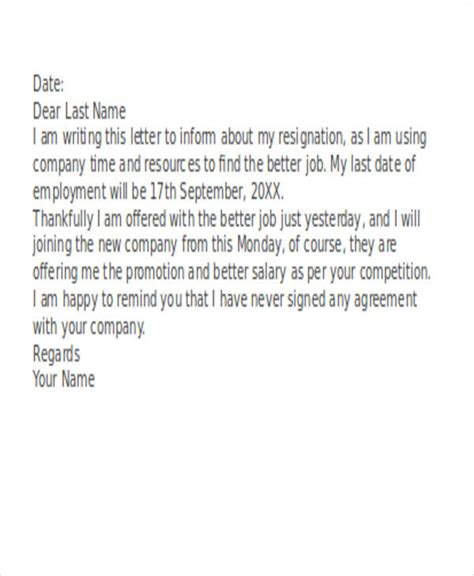 7 Sle Funny Resignation Letters Sle Templates Humorous Letter Template