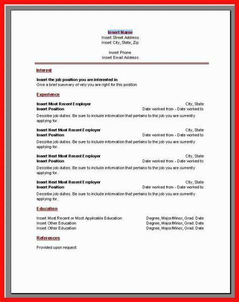 ms resume templates dzeo tk