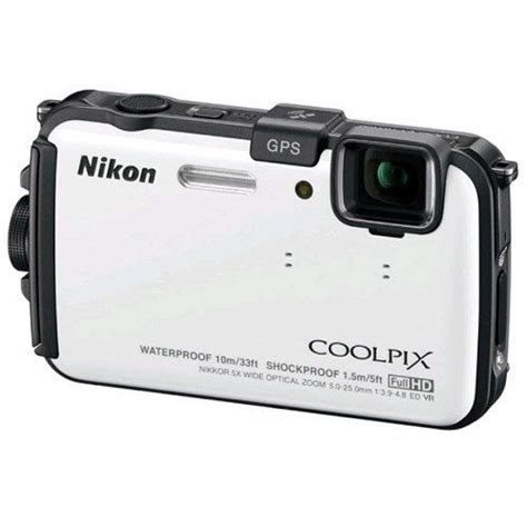 Kamera Underwater Nikon Coolpix Aw100 nikon coolpix aw100 16 mp cmos waterproof digital with gps and hd 1080p white