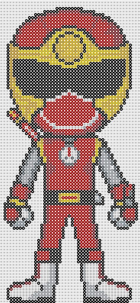 pattern in turbo c power ranger perler bead pattern by sebastien herpin