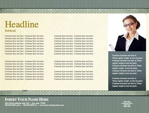 Timeless Legal Horizontal Flyer Template For Pages Free Iwork Templates Horizontal Flyer Template