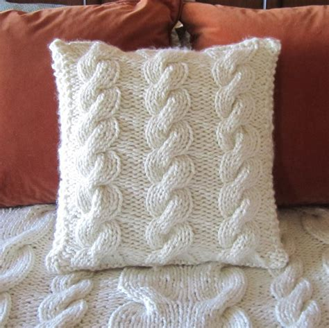 cable cushion cover knitting pattern chunky cable by ladyship knitting pattern