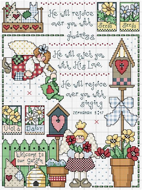 guid pattern xsd cross stitch country rejoice in the lord no color chart
