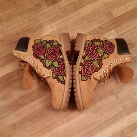tattoo pen boots custom painted boots you supply the boots