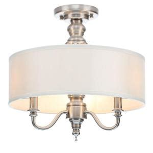 Hton Bay Lighting Fixtures Catalog Hton Bay Gala 3 Light Polished Nickel Semi Flushmount Light 14698 The Home Depot