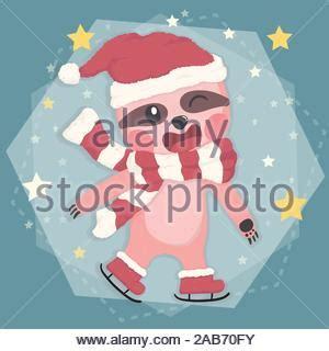 cute holiday card  kawaii style   lovely rats  heart inscription happy
