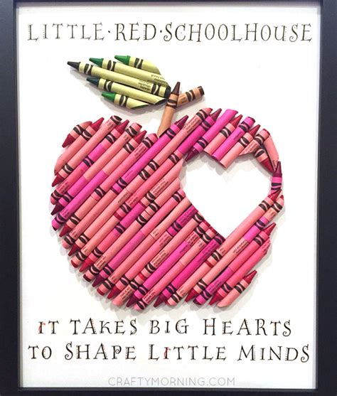 crafts for teachers gift apple crayon appreciation gift crafty morning