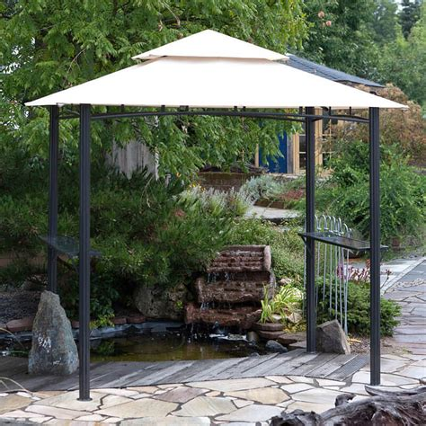 metal gazebo metal gazebo garden gazebo and bbq shelter from garden
