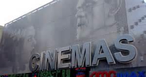 Backlit Wall Murals perforated metal wall cladding at cinema
