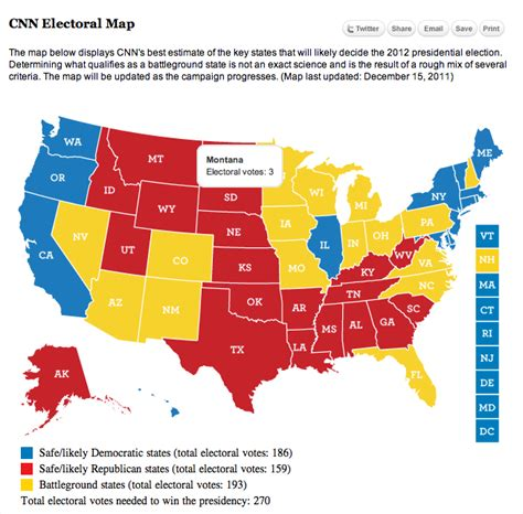 swing states list cnn releases map for battleground states for 2012 election